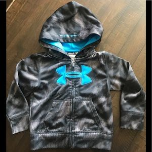 Under Armour Shirts & Tops - Boys Under Armour zip-up hoodie sweater. Size 3T